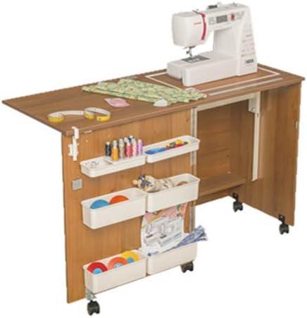 Comodidad 1 | máquina de coser armario mesa | Brown Cassino Ash: Amazon.es: Hogar