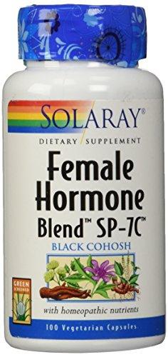 Solaray® Female Hormone Blend SP-7C | Herbal Blend Includes Black Cohosh, Dong Quai, Passion Flower, Saw Palmetto, Wild Yam & More | 100 VegCaps