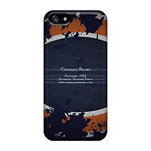 DannyLCHEUNG Iphone 5/5s Perfect Hard Cell-phone Case Unique Design Stylish Chicago Bears Pattern [qOs8487LAgf]