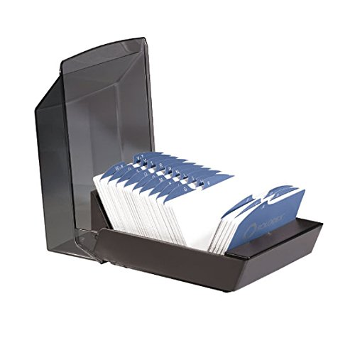 5 Rotary File (Rolodex 67037 Rolodex Covered Business Card File, 500 3 x 5 Cards, 24 A-Z Guides,)