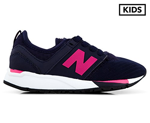 New Balance Girls' KL247NPP, Navy/Pink, 12 Medium US Little Kid (New Balance Tennis Shoes For Kids)