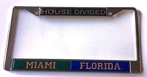 Miami Hurricanes - Florida Gators House Divided Car Tag License Plate ()