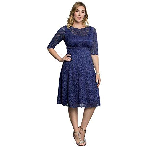 Plus La Taille Lacey Taille Plus Cocktail Mère De Style Robe De Mariée / Marié 12170902 De Bluebird