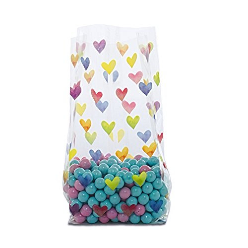 Rainbow Hearts Cello Bags - 9 1/2 x 4 x 2 1/2in. ()