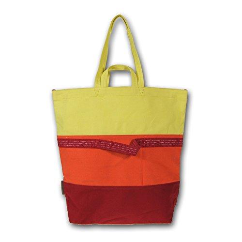 Napapijri Shopper Gioia Borsa a tracolla Bauletto 2in1 Sole Arancione Rosso Giallo