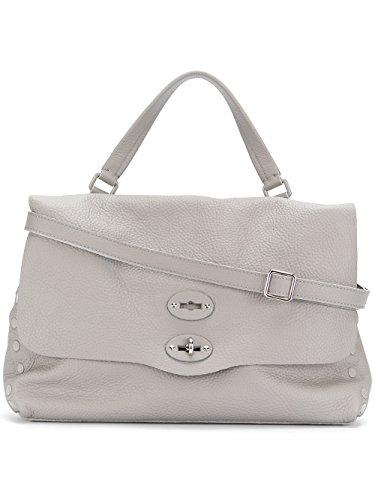 Damen Handtaschen 6134P659 Leder Zanellato Grau zBqg7