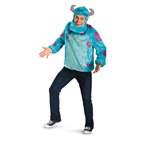 Disguise Costumes Disney Pixar Monsters University Sulley Deluxe Mens Adult Costume, Blue/Purple, X-Large/42-46