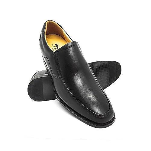 5f8687f9 Zerimar Zapatos con Alzas para Hombre de Estilo Elegante Diseño de Pala  Alta con Elásticos Laterales