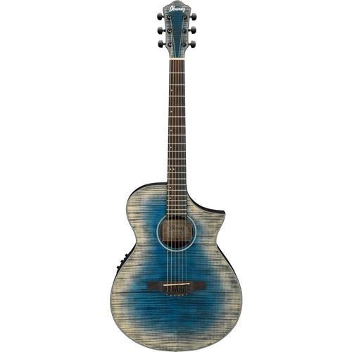 Ibanez AEWC32FM Thinline Acoustic-Electric Guitar Blue Burst