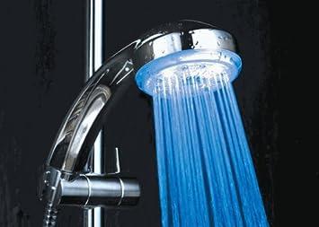 7 Farbwechselnder LED-Duschkopf Hochdruck-Badezimmerhandheld Anionenfilter