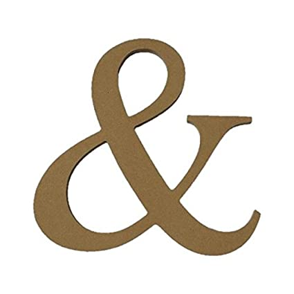 amazon com 10 unfinished wooden ampersand letter
