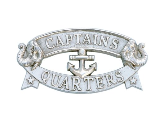 Captains Line Model Ships (Hampton Nautical  Chrome Captain's Quarters Sign, 9