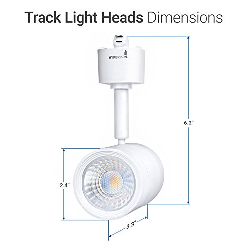 Hyperikon LED Track Head Lighting, H-Type Integrated Track Head Only, 8.5W (50W Equivalent), 4000K Daylight, 40° Beam, CRI90 - for Accent or Spot Lighting, Wall Art, Kitchen (4-Pack) by Hyperikon (Image #8)'