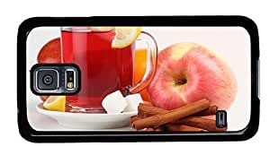 Hipster free shipping Samsung Galaxy S5 Cases Apple Cinnamon Tea PC Black for Samsung S5