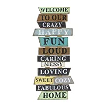 "Young's 16847 Welcome Wooden Wall Sign, 14.25"" x 1.25"" x 32"""