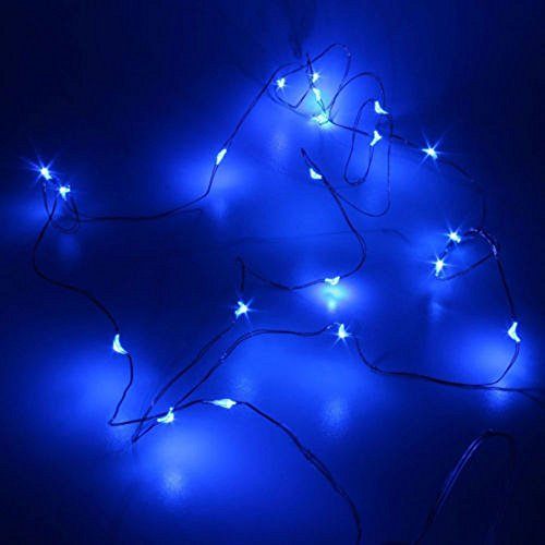 Kanzd 2M String Fairy Light 20 LED Battery Operated Xmas Lights Party Wedding Lamp (Blue)