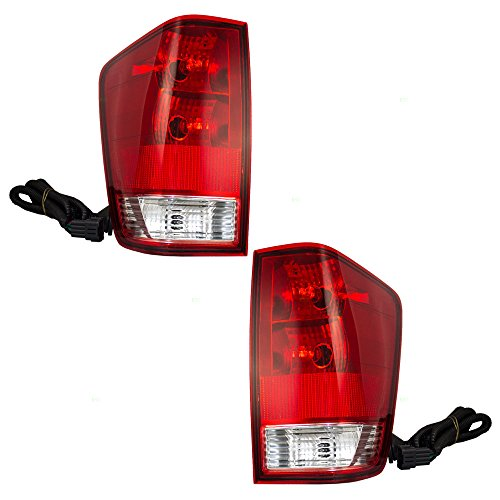 Nissan Titan Tail Lamp - Driver and Passenger Taillights Tail Lamps Replacement for Nissan Titan Pickup Truck 265557S227 26550ZH225