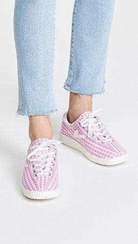 White Light Pink Sneakers Vintage Women's Nylite Plus Chambray Tretorn CxzPO1wqn