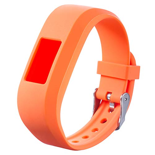 dzsntsmgs Kids Sports Strap Replacement Watchband for Garmin Vivofit JR Smart Wrist Watch - Orange Waterproof, Soft, Durable, Replacement