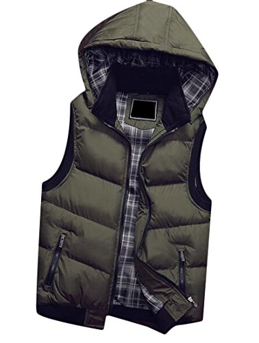 UK Warm Down Sleeveless Jacket Winter today 2 Puffer Padded Mens Hoodie Vest pTwdp4ntqx