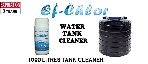 Ef-Chlor, Over Head Water Tank Cleaning Tablets, 1000 L ( 4 gm ), Pack of 20 Tablets, 1 Tablet Purifies 1000 Liters Water