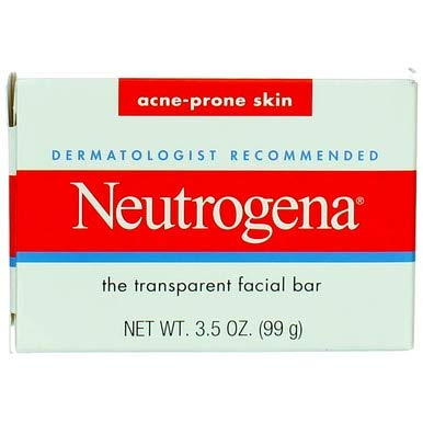 Neutrogena Facial Cleansing Bar Treatment for Acne-Prone Skin, Non-Medicated & Glycerin-Rich Hypoallergenic Formula with No Detergents or Dyes, 3.5 oz (Pack of 6)