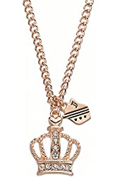 Juicy Couture Royal Crown & Shield Pave Necklace