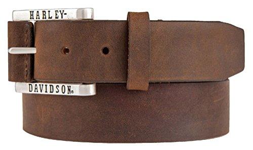 harley davidson brown belt - 1