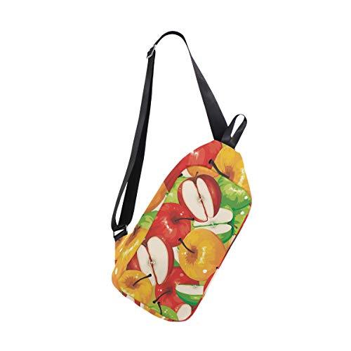 Painting Crossbody Shoulder Apple For Backpack Bennigiry One Chest Bags Men Women Bag amp; Sling Oil 4nE0aawq8