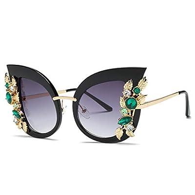 NEW Oversized Cat Eye Sunglasses Women Retro Vintage Rhinestone Diamond Metal Frame Sun Glasses Shades 555