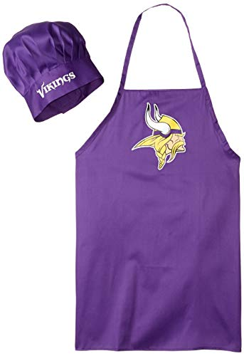 - NFL Minnesota Vikings Chef Hat and Apron Set, Purple,