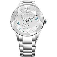 Relógio Feminino Technos Digital Com Cristais Swarovski 2039Avdtm/1K Prata