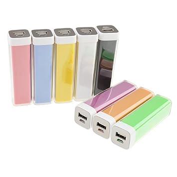 2600mAh USB Power Bank Cargador de batería externa para los teléfonos móviles de muchos colores (Color Random)