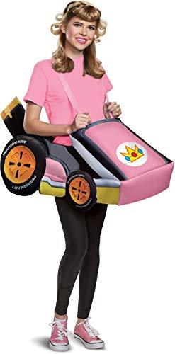 Mario Kart Halloween Costumes - Disguise Women's Peach Kart Adult Costume,