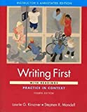 Writing First, Laurie G. Kirszner and Stephen R. Mandell, 0312487606