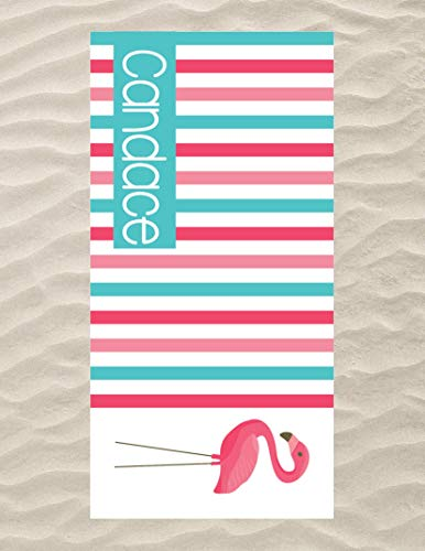 Pink Flamingo Beach Towel, Personalized Beach Towel for Kids, Pink Flamingo Stuff for Kids, Pink Flamingo Kids Beach Towel, Cute Flamingo Gifts, Custom Beach Towel, Microfiber Beach Towel 60x30 inch