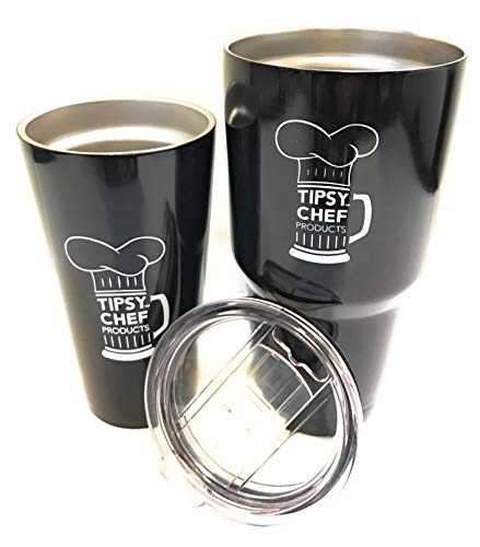 (Two-Pack Bundle! 30 oz Double Vacuum Insulated Stainless Steel Sweat Proof Tumbler & FREE Stainless Steel Pint)