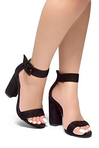Image of Herstyle Women's Rumors-Glitter, Chunky Heel, Ankle Strap Black 7
