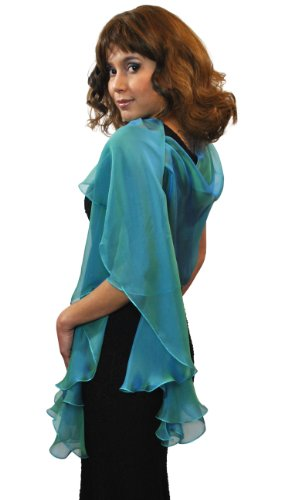 Peacock Silk Scarf Wrap