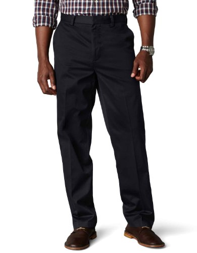 Mens 100% Cotton Pants (Dockers Men's Classic Fit Signature Khaki Pants D3, Navy (Cotton)-Discontinued, 36W x 32L)