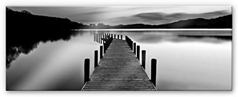 Spritzschutz Seepanorama schwarz//weiß