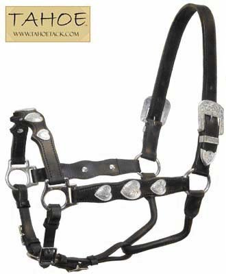 Tahoe Tack Silver Heart Draft Show Horse Halter
