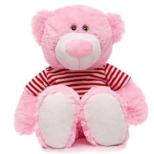 MaoGoLan 23 inch Pink Teddy Bear Stuffed Animal Plush for Baby Girls Girlfriend 60CM