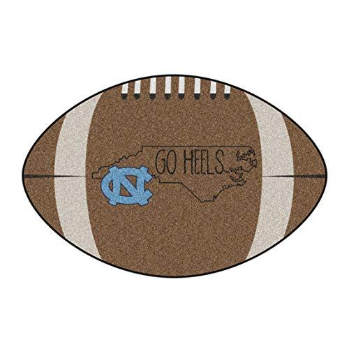 (NCAA University of North Carolina - Chapel Hill Tar Heels Football Shaped Mat Area Rug)