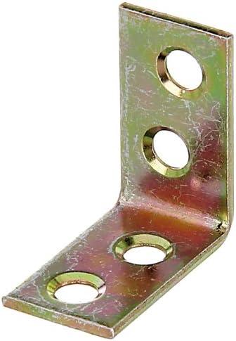 galvanis/ée bichromat/ée 25 x 25 x 14 mm // 100 pcs /Équerre de chaise acier
