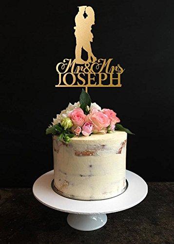 Amazon.com: Wedding Cake Topper, Police officer and Bride Wedding ...