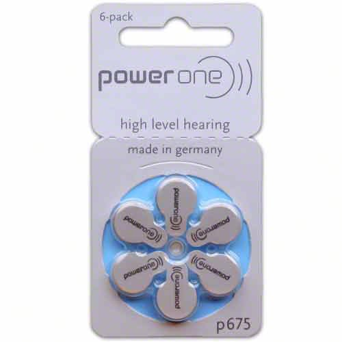 Power One Size 675 Hearing Aid Batteries (120) by Power One