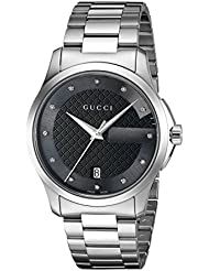 Gucci G-Timelss Quartz Stainless Steel Silver-Toned Watch(Model: YA126456)