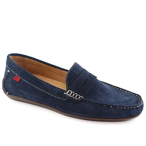 Driving Driver Leather New Men's Style Loafer York Street Marc Suede Union Joseph Navy 80Iaxx