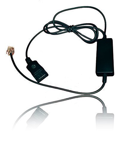 Intelligent Cord (4ft) for Plantronics, AddaSound Headsets | QD to RJ9 with Quick Disconnect | Compatible with Mitel, NEC, Aastra, Nortel, Shortel, Allworx, Cisco